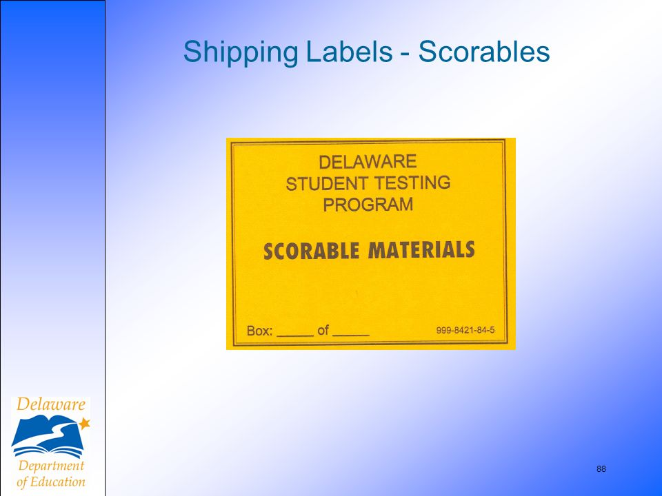 88 Shipping Labels - Scorables
