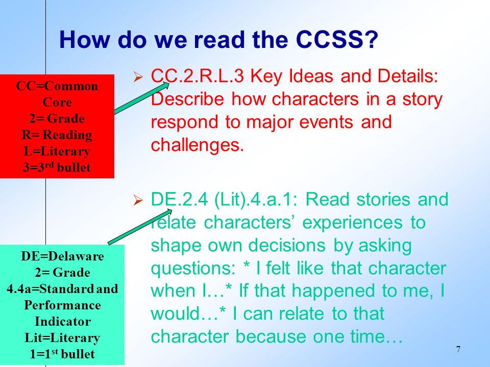 How do we read the CCSS.