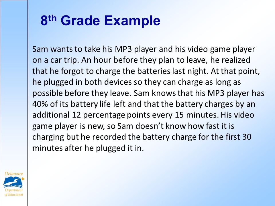 Sam wants to take his MP3 player and his video game player on a car trip. An hour before they plan to leave, he realized that he forgot to charge the