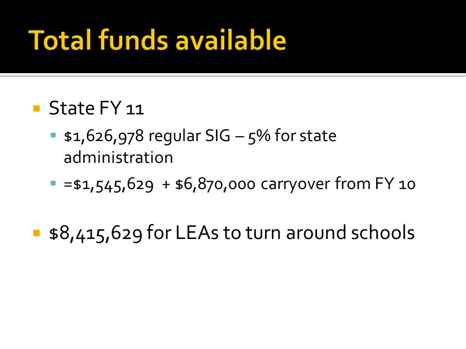 1.State Partnership Zone schools that are in SIG Tiers I and II 2.