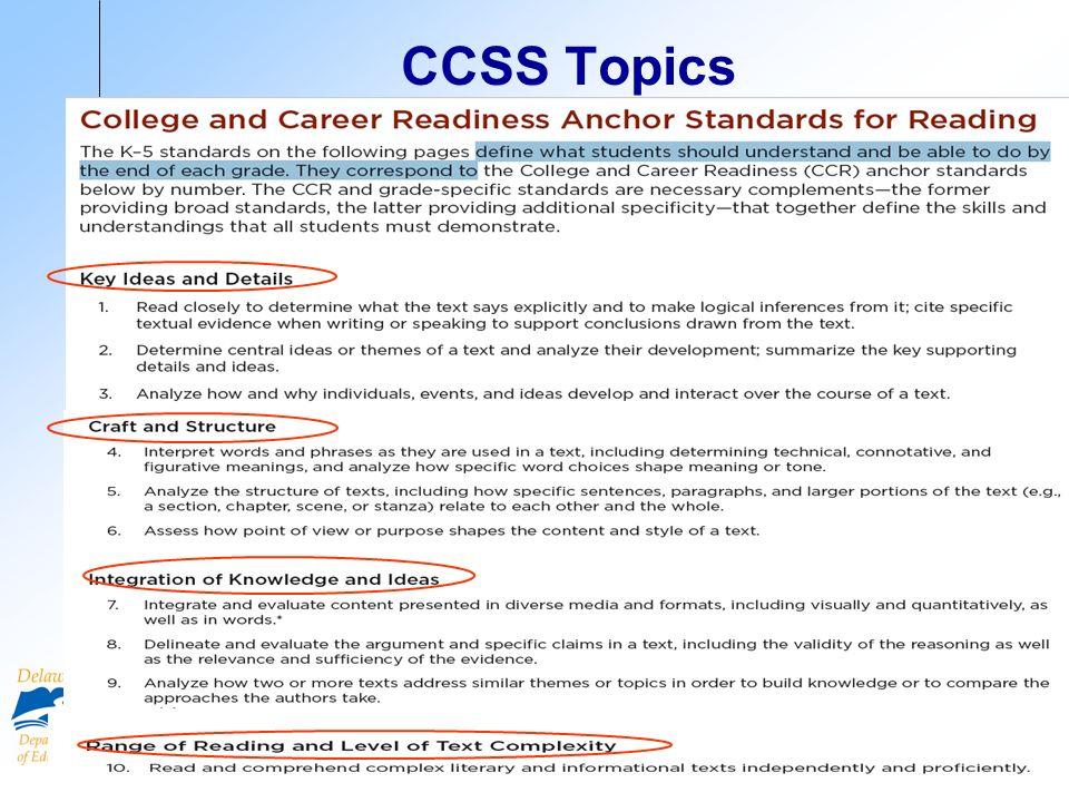 CCSS Topics 7