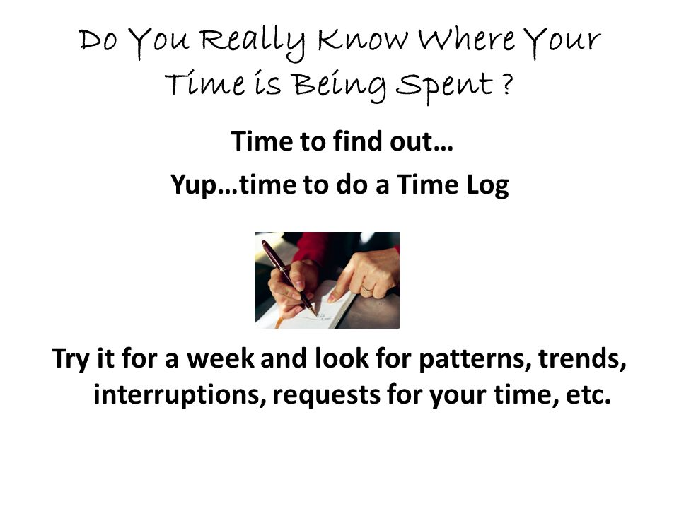 Do You Really Know Where Your Time is Being Spent .