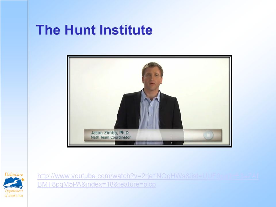 The Hunt Institute   v=2rje1NOgHWs&list=UUF0pa3nE3aZAf BMT8pqM5PA&index=18&feature=plcp