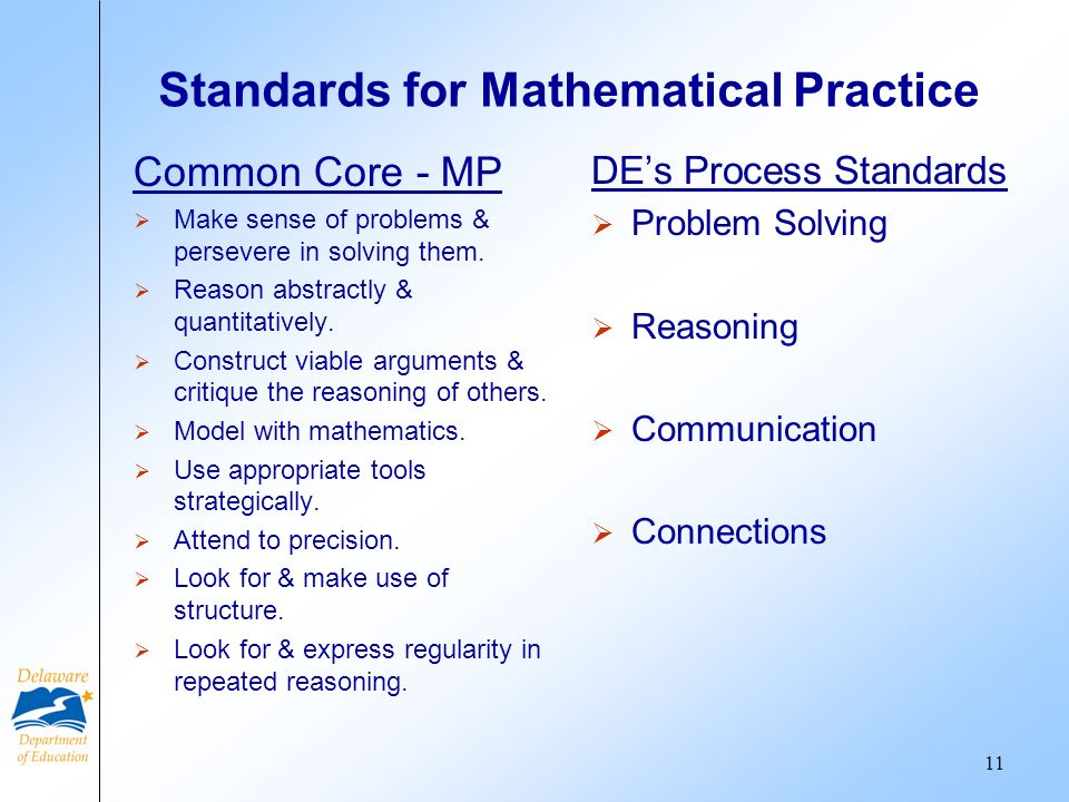 Standards for Mathematical Practice Common Core - MP Make sense of problems & persevere in solving them.