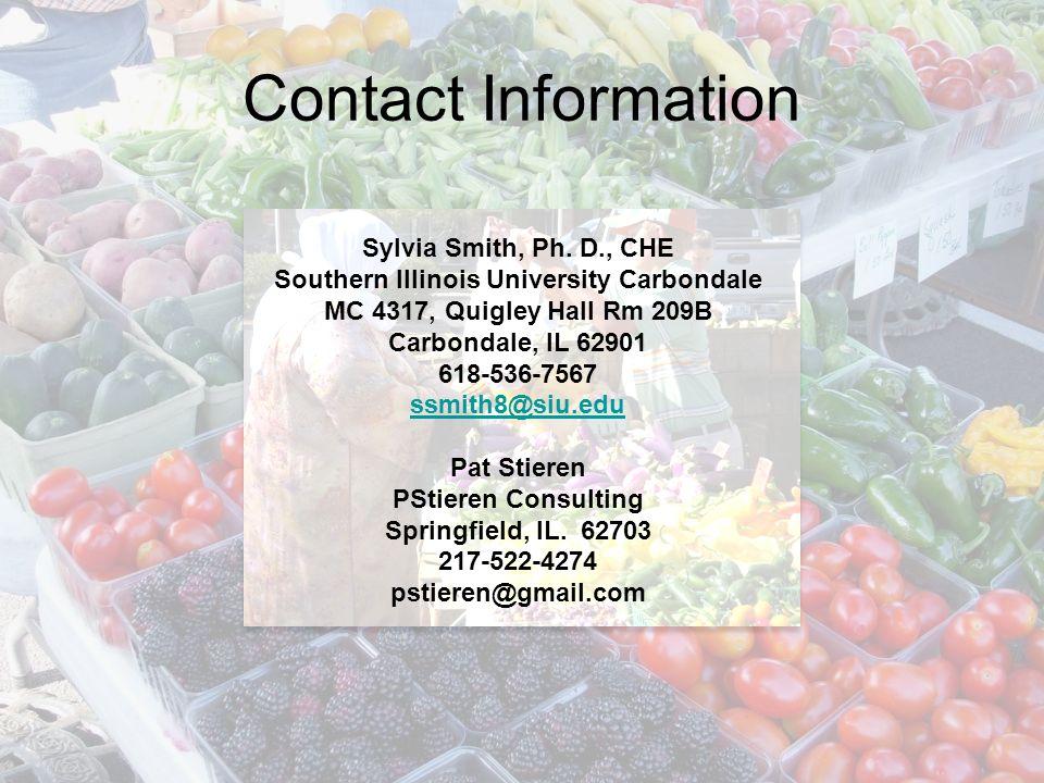 Contact Information Sylvia Smith, Ph.