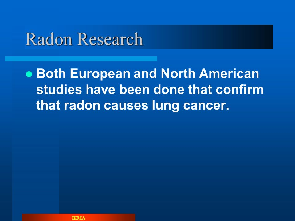 IEMA Current Name Radon has been known by its current name since 1923.