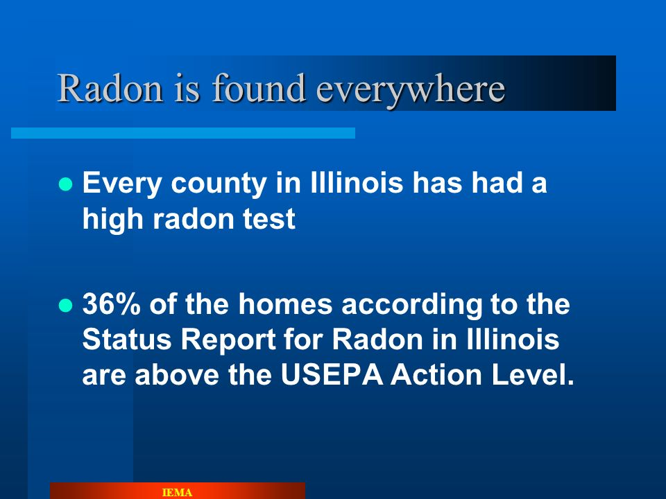 IEMA More Radon Details. Radon is classified as a Noble Gas.