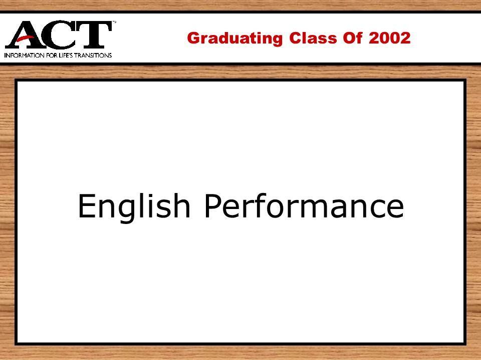 Graduating Class Of 2002 English Performance