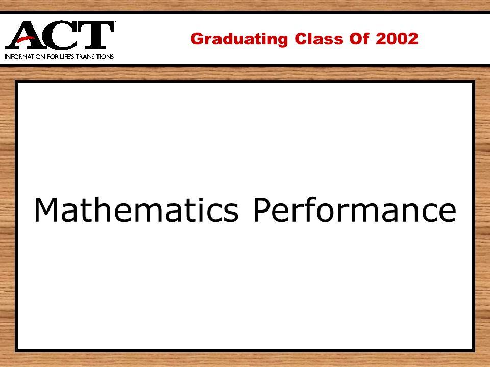 Graduating Class Of 2002 Mathematics Performance