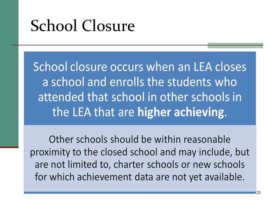 School Closure 29