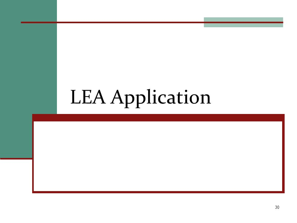 LEA Application 30