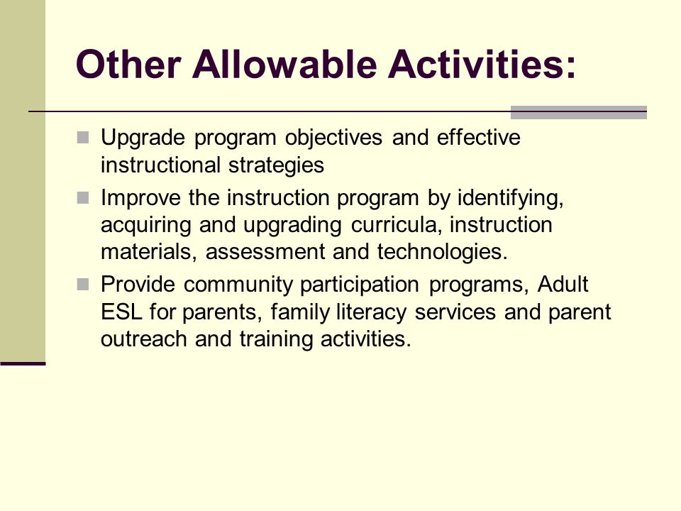 Title III Mandated Activities: To increase the English proficiency of English language learners by providing high-quality language instruction program
