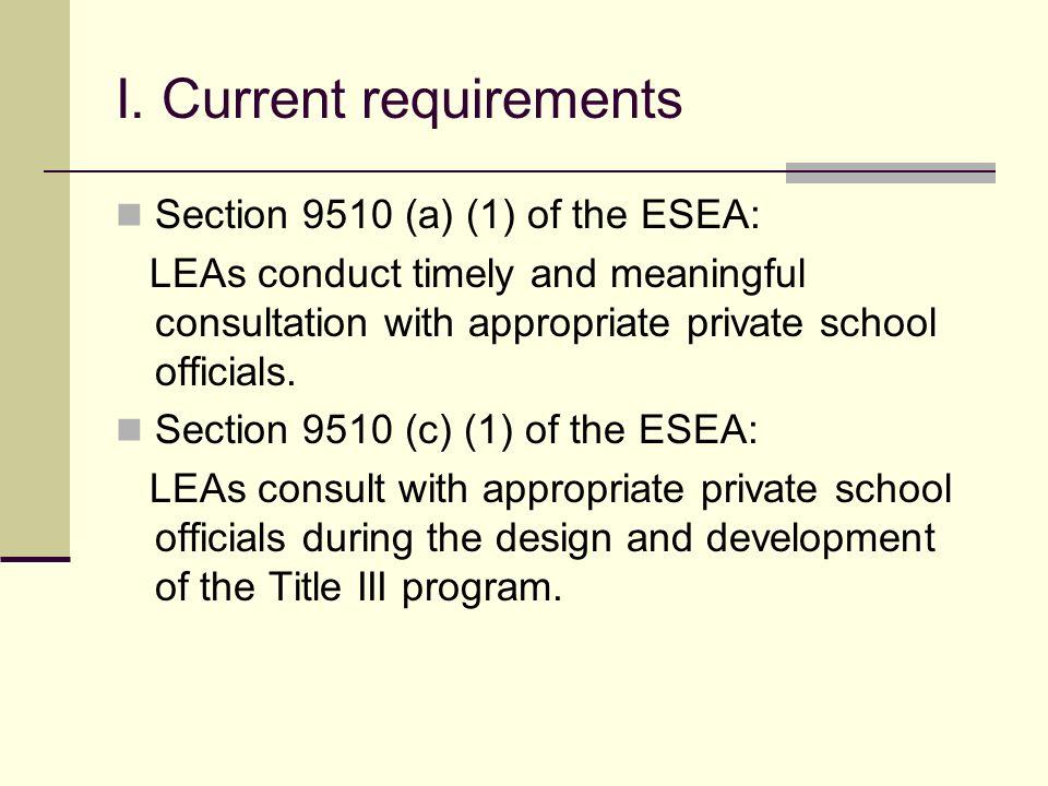 Non-Public School Participation Dr.