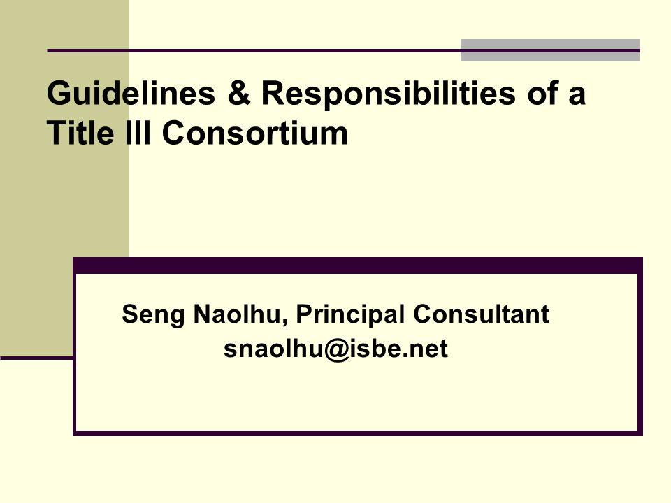Federal Title III Monitoring Findings Illinois State Board of Education Division of English Language Learning Seng Naohlu, Dr. Seon Hwa Eun, Ilyse Lel