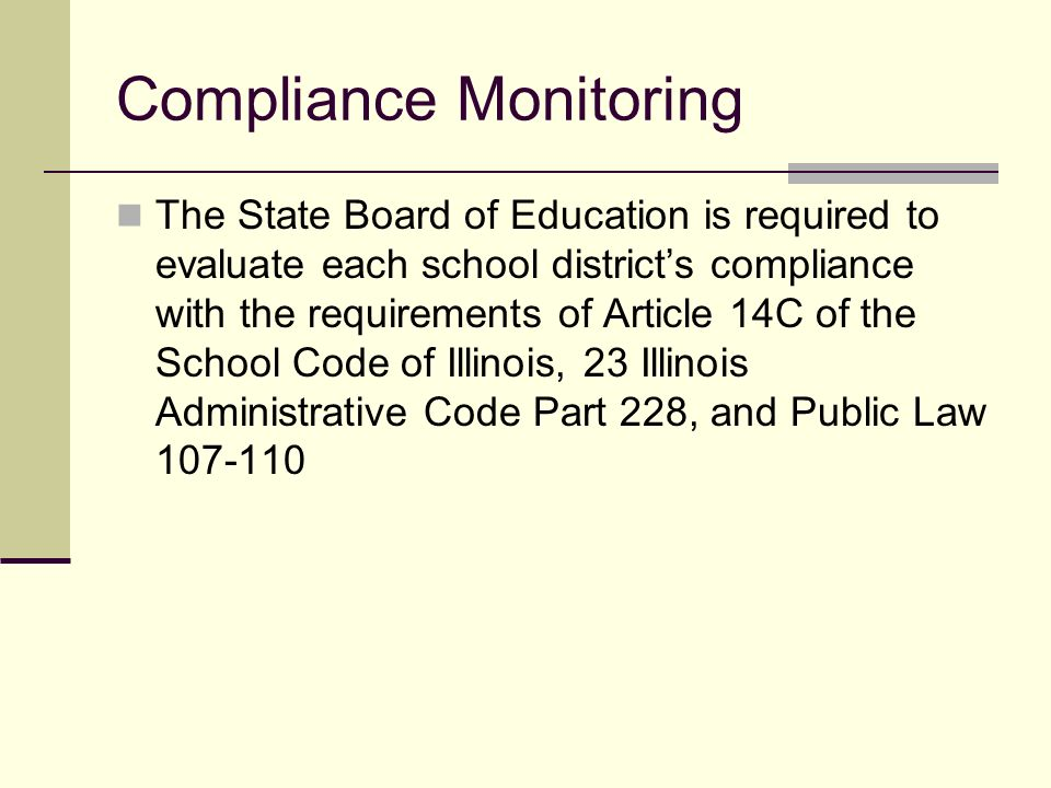 FY10 Monitoring Ilyse Leland, Bill Garcia and Sherry Johnson Illinois State Board of Education Division of English Language Learning