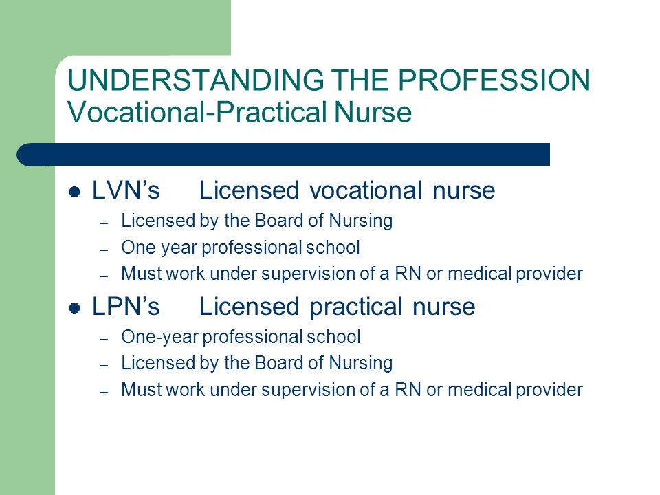Staff Nurse Experience varies Few clinics or physician offices employ Registered Nurses – too expensive