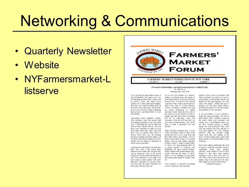 Networking & Communications Quarterly Newsletter Website NYFarmersmarket-L listserve