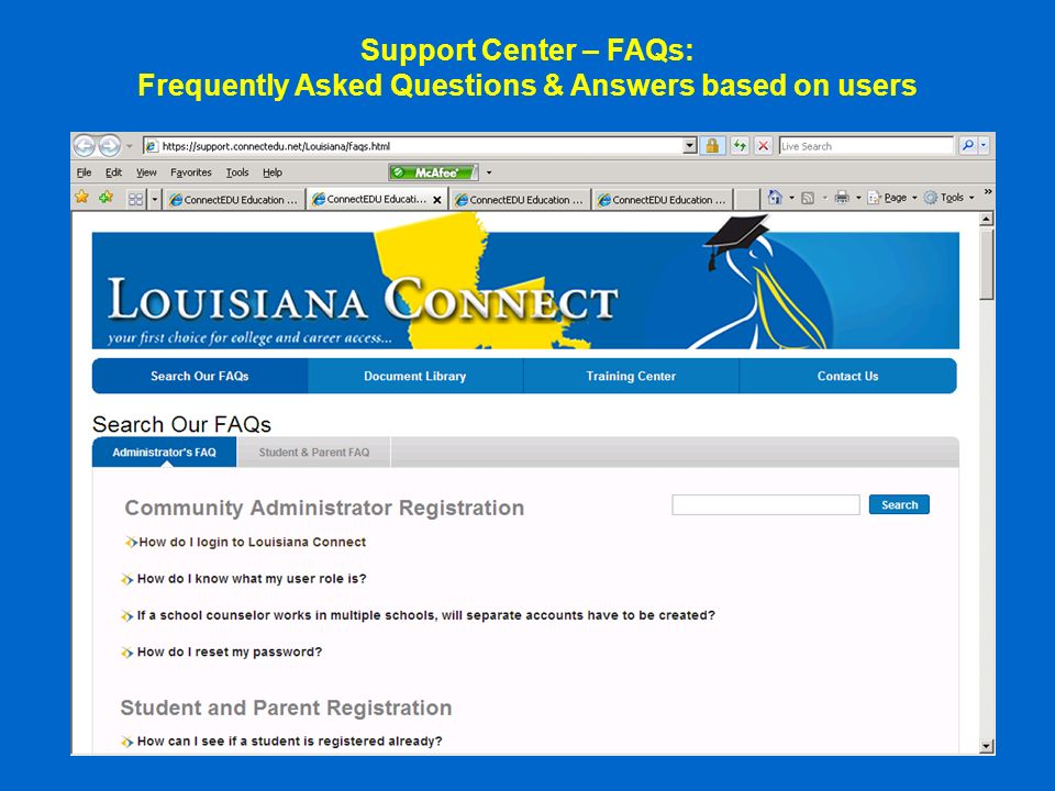 Support Center – FAQs: Frequently Asked Questions & Answers based on users