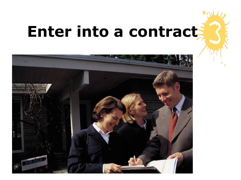 Enter into a contract