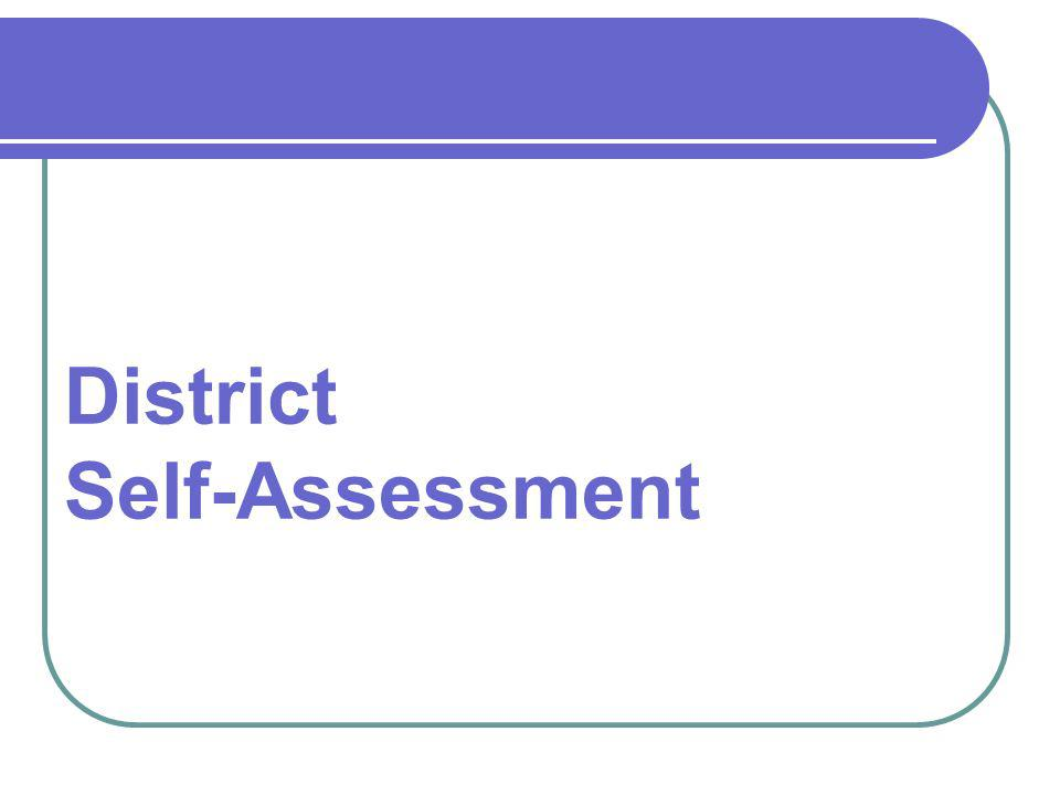 District Self-Assessment