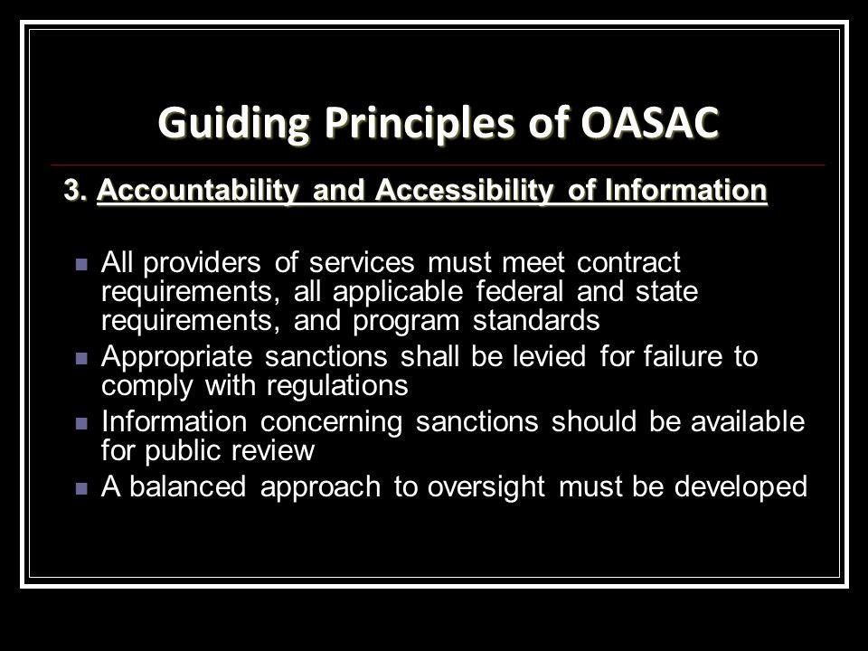 Guiding Principles of OASAC 3.