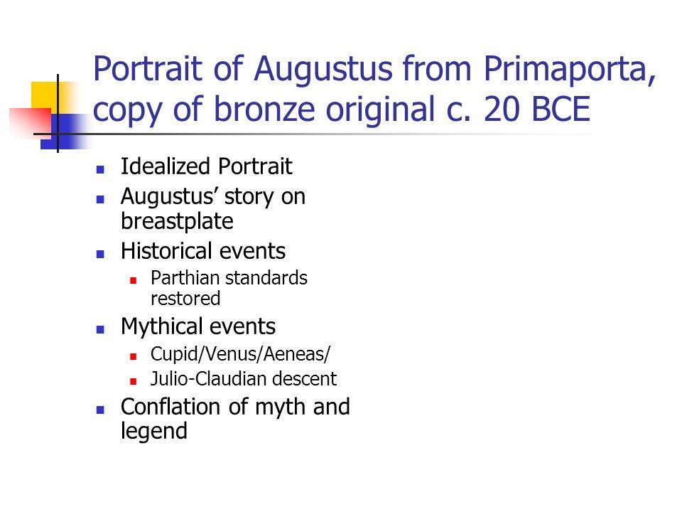 Portrait of Augustus from Primaporta, copy of bronze original c.