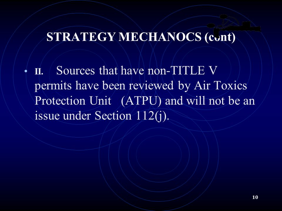 9 STRATEGY MECHANICS (cont) B.