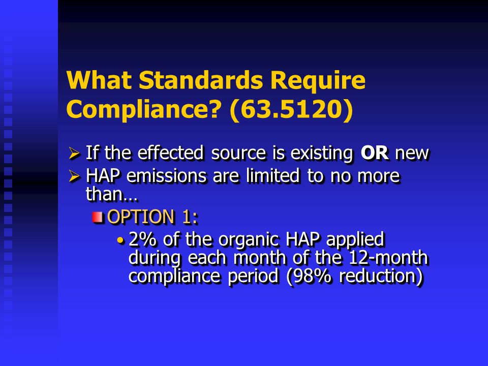 What Standards Require Compliance.