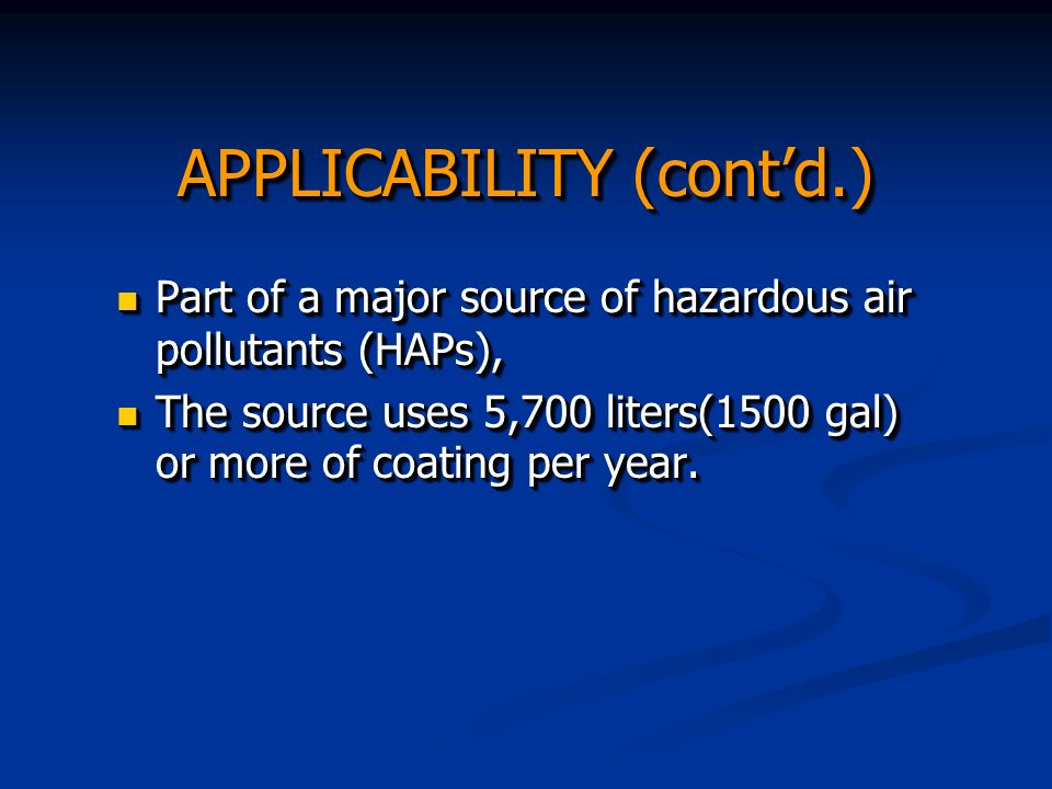 Operations & Maintenance Requirements (§63.3493) affected facilities must operate and maintain the sources, including air pollution control and monitoring equipment in a manner consistent with good air pollution practices that minimizes air emissions to the level required in Subpart KKKK.