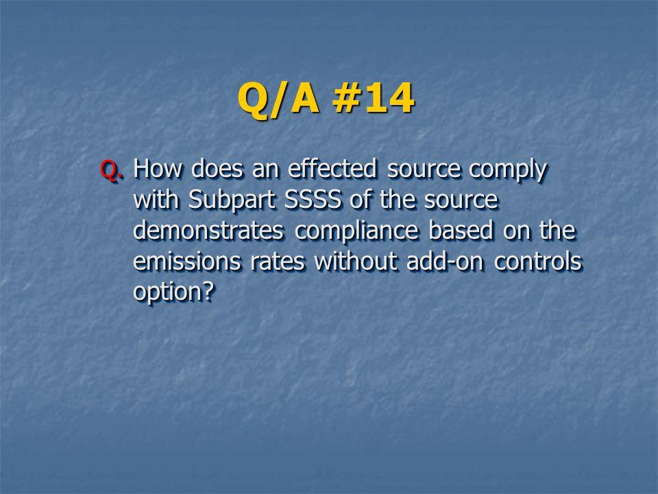 Q/A #14 Q.