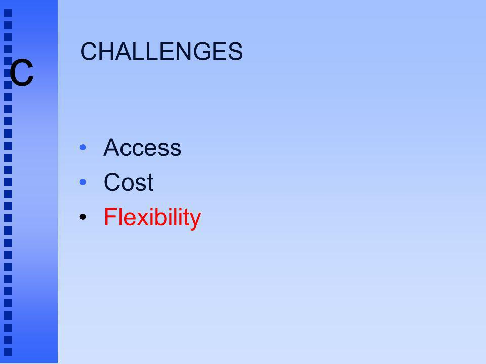 c CHALLENGES Access Cost Flexibility