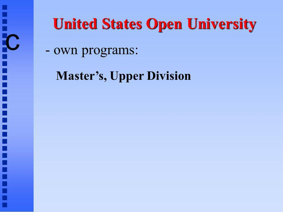 c - own programs: Masters, Upper Division