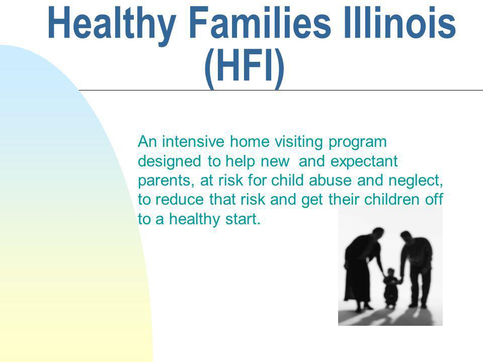 HFI helps parents reduce their risk of child abuse or neglect their by : n Strengthening the parent-child relationship n Helping parents develop realistic expectations for their children n Improving family support systems n Supporting healthy child growth and development