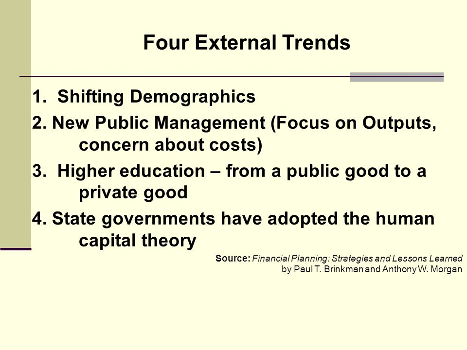 Four External Trends 1. Shifting Demographics 2.
