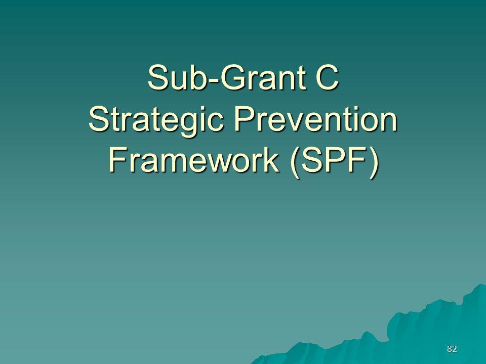 82 Sub-Grant C Strategic Prevention Framework (SPF)