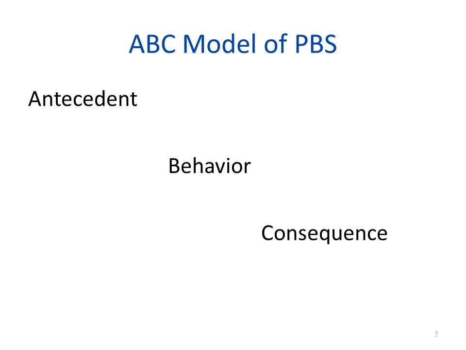 ABC Model of PBS Antecedent Behavior Consequence 5