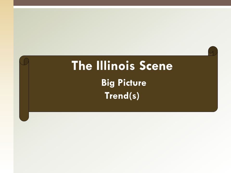 The Illinois Scene Big Picture Trend(s)
