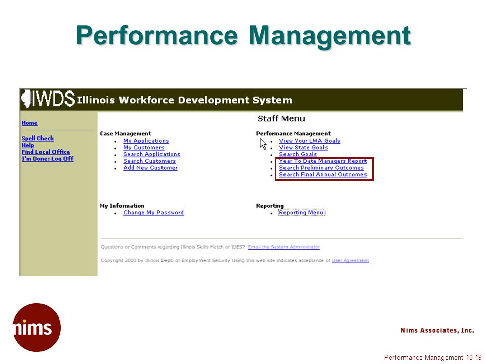 Performance Management Performance Management