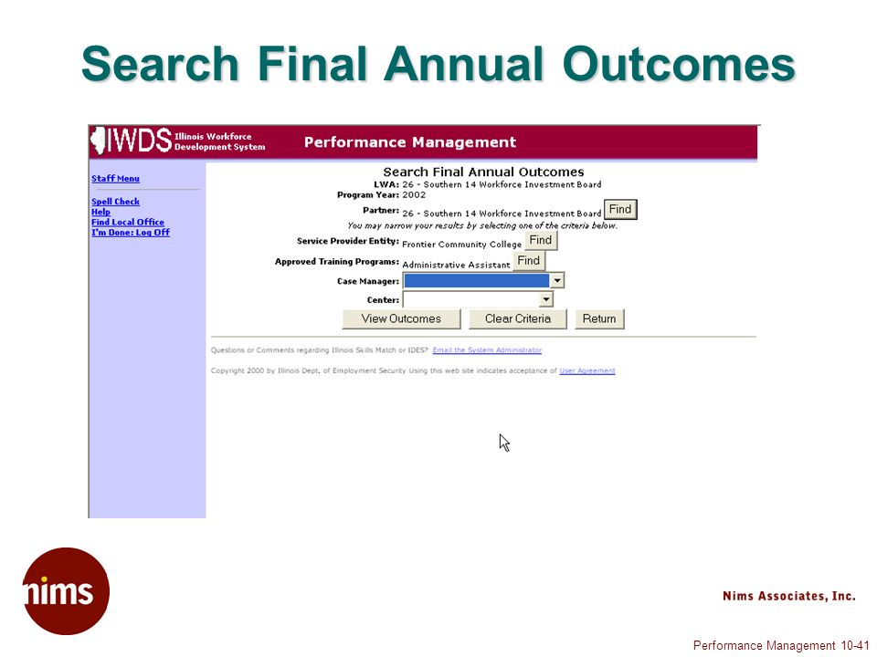 Performance Management Search Final Annual Outcomes