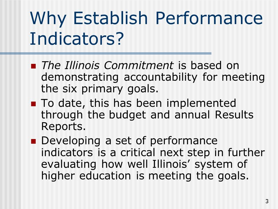 3 Why Establish Performance Indicators.