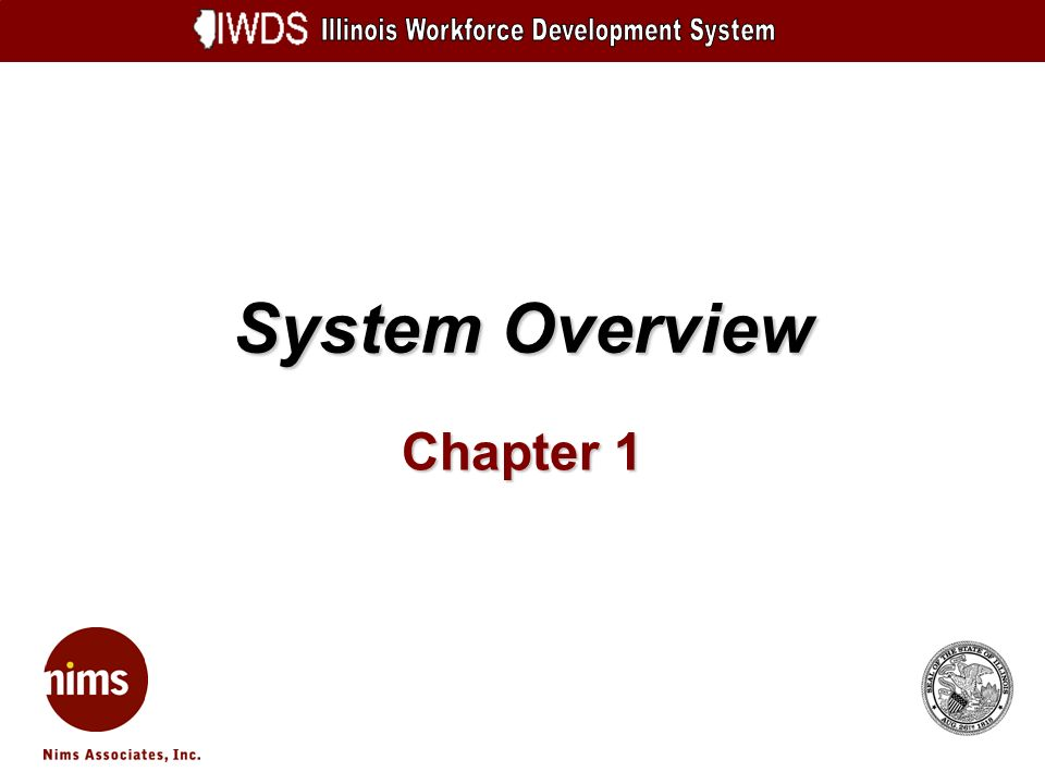System Overview Chapter 1