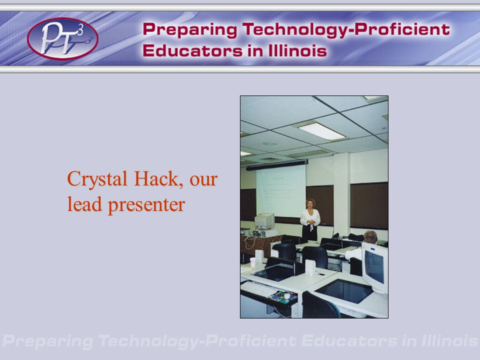 Crystal Hack, our lead presenter