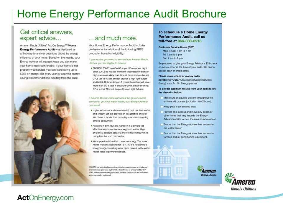 Home Energy Performance Audit Brochure