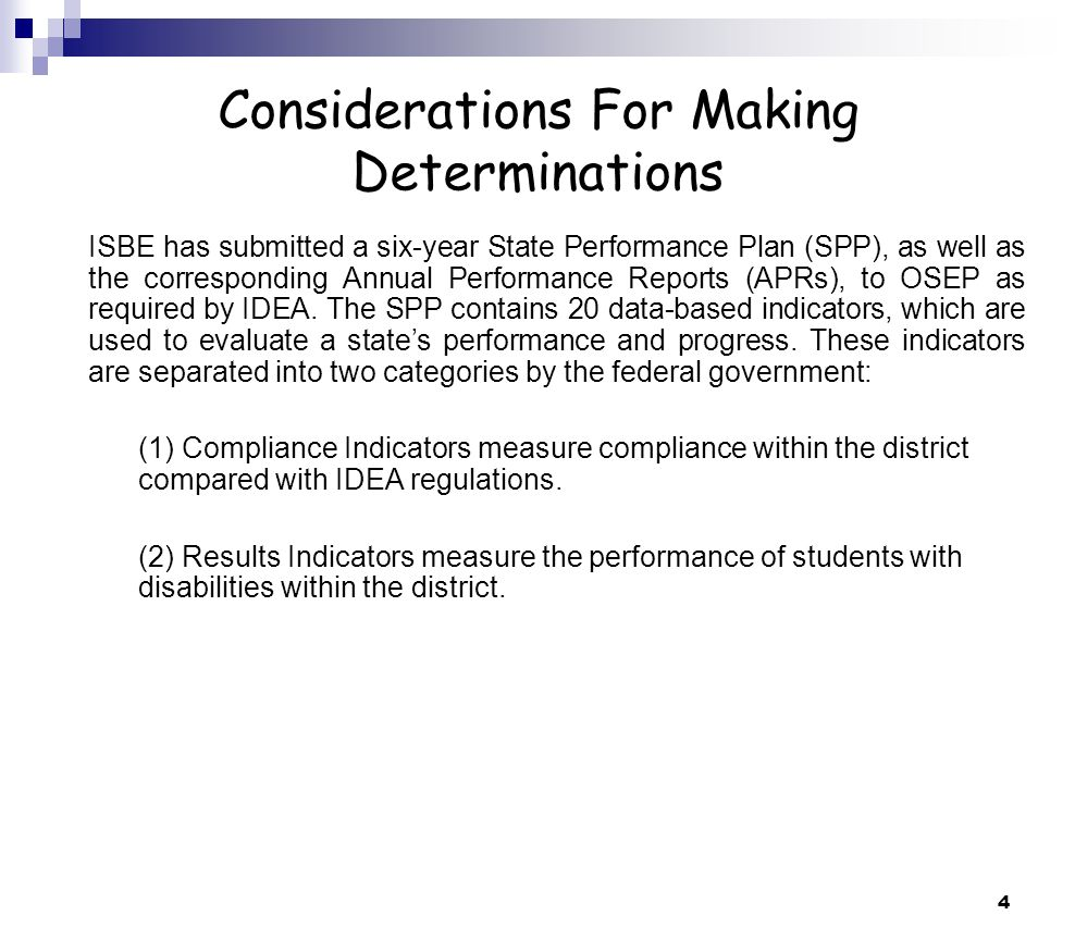 15 Indicators 11 & 12 Resources The following resources may be accessed from the LEA Determinations link found at www.isbe.net/spec-edwww.isbe.net/spec-ed Indicator 11: Special Education Funding and Child Tracking System Instructions Illinois School Code (Section 105 ILCS 5/14-8.02) State Performance Plan Indicator 11 Resource Guide http://www.isbe.net/spec-ed/pdfs/indicator_11_res_guide.pdf Indicator 12: Designing and Implementing Effective Early Childhood Transition Processes Overview of IDEA/SPP Early Childhood Transition Requirements When Im 3, Where Will I Be.
