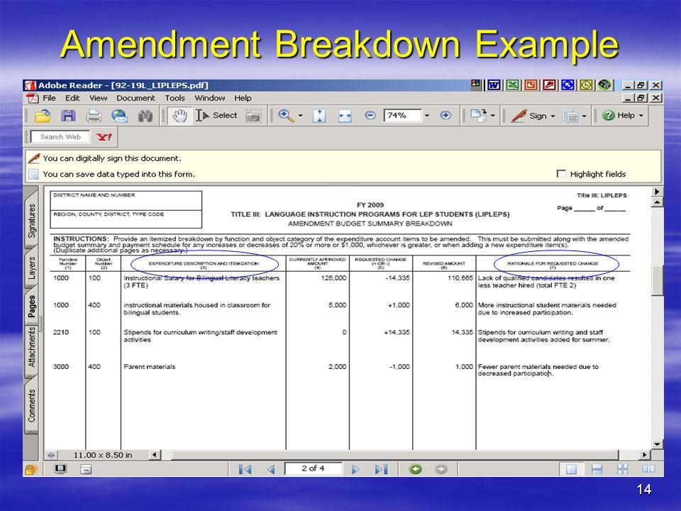 14 Amendment Breakdown Example