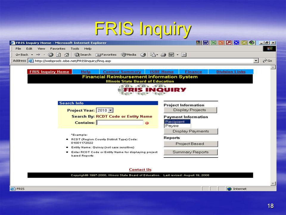 18 FRIS Inquiry