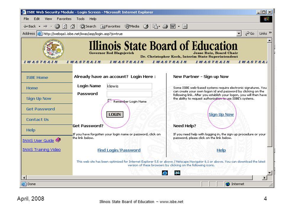 Illinois State Board of Education – www.isbe.net April, 20084