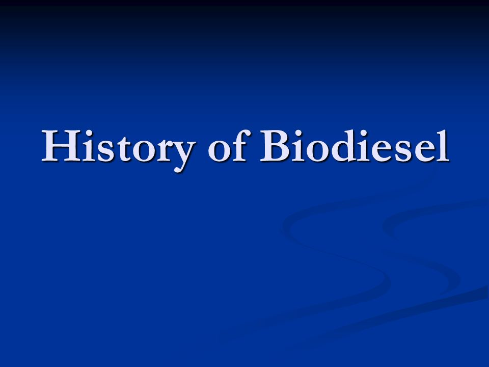 Biodiesel Production Capacity