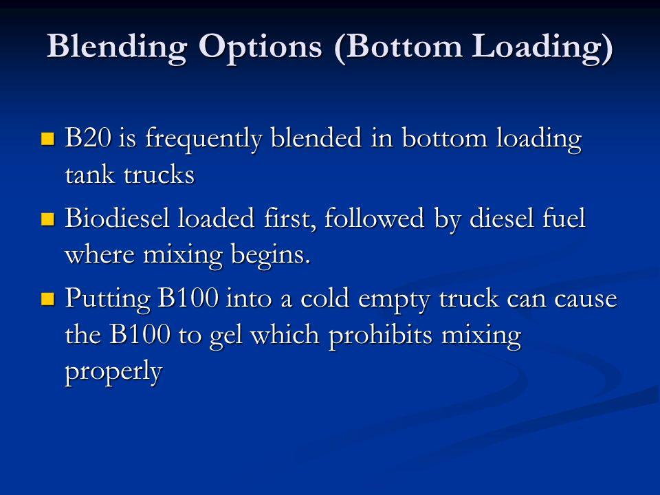 Blending Options (Bottom Loading) B20 is frequently blended in bottom loading tank trucks B20 is frequently blended in bottom loading tank trucks Biod