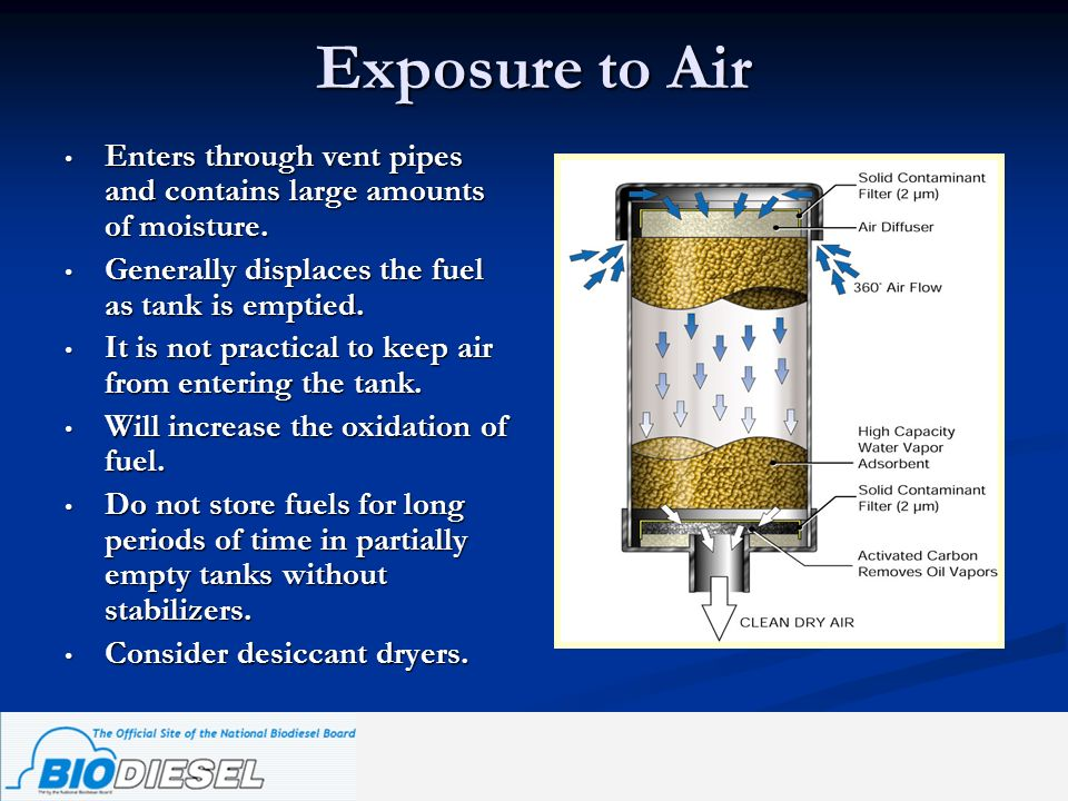 Exposure to Air Enters through vent pipes and contains large amounts of moisture. Enters through vent pipes and contains large amounts of moisture. Ge